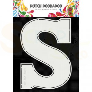470.713.753 Dutch Doobadoo Card Art, Chocolade letter 'S'
