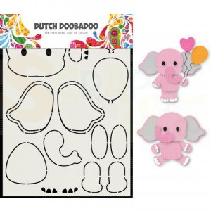470.713.795 Dutch Doobadoo Card Art, Olifant