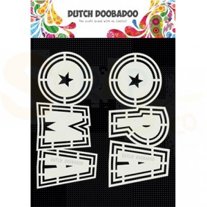 470.713.807 Dutch Doobadoo Shape Art, Opa en Oma