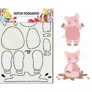 470.713.858 Dutch Doobadoo Card Art, Build Up Varken