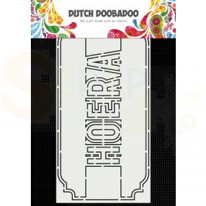 470.713.863 Dutch Doobadoo Card Art, Slimline Hoera