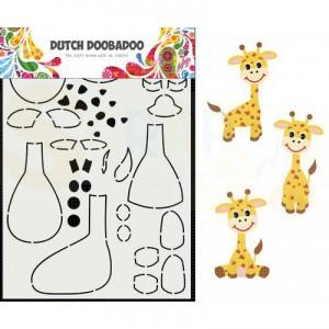 470.713.864 Dutch Doobadoo Card Art, Built Up Giraf