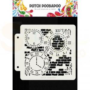 470.715.154 Dutch Doobadoo Mask Art, Grunge Clock