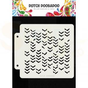 470.715.155 Dutch Doobadoo Mask Art, Grunge chevrons