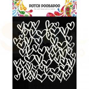 470.715.623 Dutch Doobadoo Mask Art, Hearts