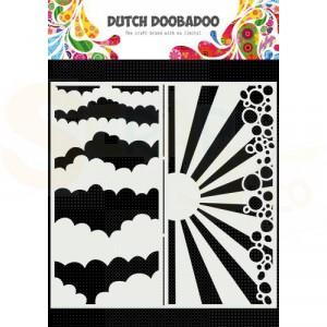 470.784.002 Dutch Doobadoo Mask Art, Slimline Wolken