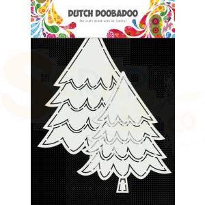 470.784.016 Dutch Doobadoo Card Art, Kerstbomen (2 stuks)