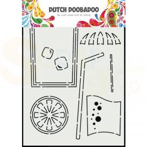 470.784.025 Dutch Doobadoo Card Art, Cocktail glas