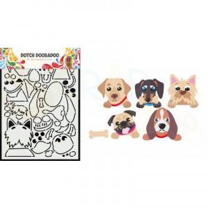 470.784.037 Dutch Doobadoo Card Art, Peek a Boo Hondjes