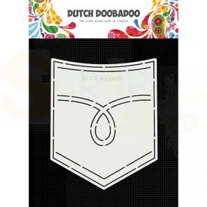 470.713.751 Dutch Doobadoo Card Art, Jeans (broek) zak