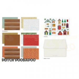 472.100.006 Dutch Doobadoo Papier, Crafty Kit Christmas Scene