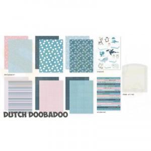 472.100.007 Dutch Doobadoo Papier, Crafty Kit Frosty Winter