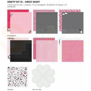 473.005.004 Dutch Doobadoo Papier, Crafty Kit XL Love