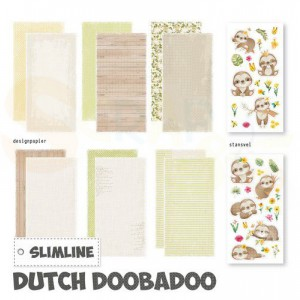 473.005.006 Dutch Doobadoo Papier, Slimline Paper kit Luiaard