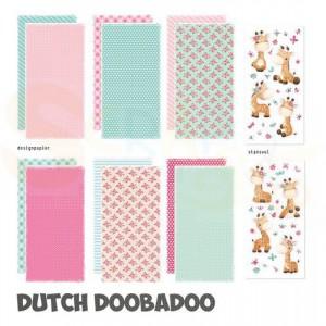 473.005.009 Dutch Doobadoo Papier, Crafty Kit Slimline Giraffe