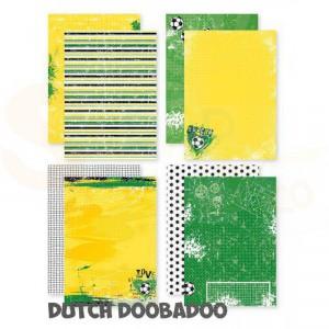 473.005.012 Dutch Doobadoo Designpapier A4, Voetbal