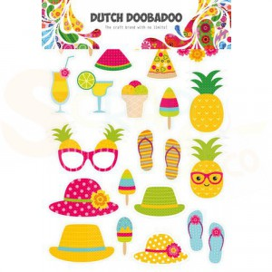 474.007.011 Dutch Doobadoo Sticker Art, Summer elements