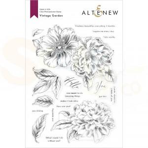 Altenew, stamp & die Vintage Garden ALT4772