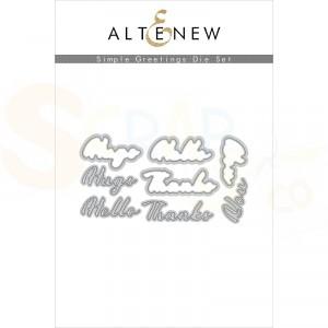 Altenew, die set Simple Greetings ALT4776