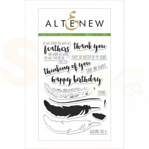 Altenew, clearstamp Faithful Feather, ALT1502