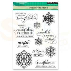 Penny Black, clear set stamp 30-513 Winter Sentiments