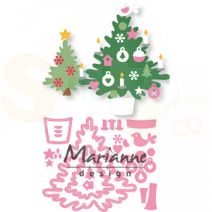 COL1459. collectable Marianne Design, Eline's Christmas tree