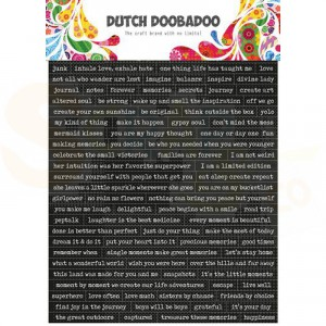 491.200.001, Dutch Doobadoo Sticker Art, Quotes (Eng)