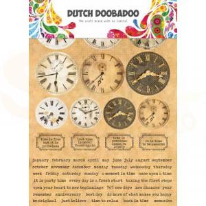 491.200.003, Dutch Doobadoo Sticker Art, Clocks