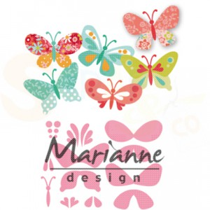COL1466, Marianne Design, Collectable Eline's butterflies