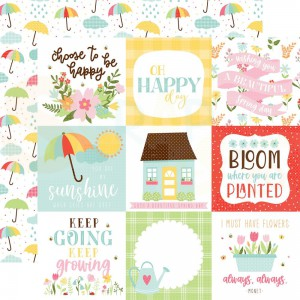 Echo Park Paper, Welcome Spring WES235006, 4x4 Journaling cards