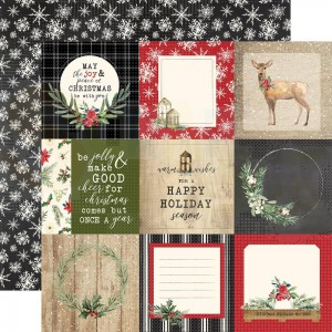 Carta Bella, Christmas CBCH89004, Journaling cards 4x4""
