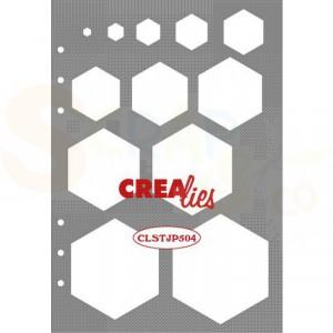 CreaLies, Stencil Decoratie Zeshoeken CLSTJP504