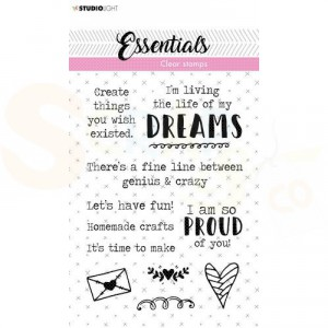 StudioLight, clearstamp Tekst Essentials nr. 520 Dreams STAMPSL521