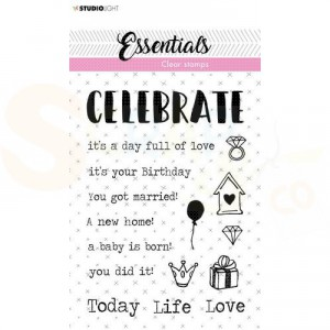 StudioLight, clearstamp Tekst Essentials nr. 521 Celebrate STAMPSL521