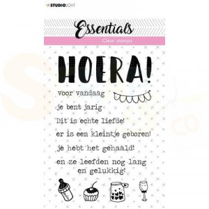 StudioLight, clearstamp Tekst Essentials nr. 523 Hoera STAMPSL523