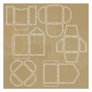 6002/0864, Scrap!stencil JoyCrafts, Mini envelopes