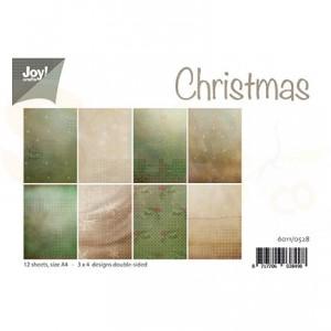 6011/0528 Papierset - Kerst achtergrond