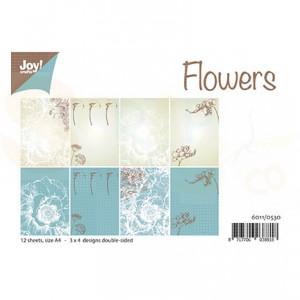 6011/0530 Papierset JoyCrafts, Design Flowers