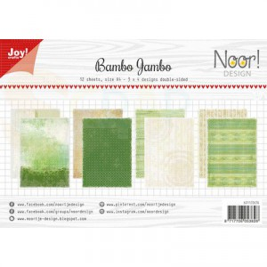 6011/0676 papierset Joycrafts, Bamboo jambo