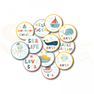 Masterpiece Design, diecuts 6037, Kids collection - buttons Sea Life