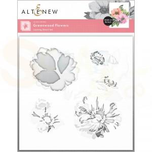 Altenew, stencil Greenwood Flowers (3 in 1) ALT6133