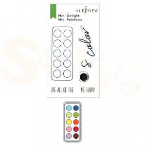 Altenew, mini delight stamp&die Paint Box ALT6162