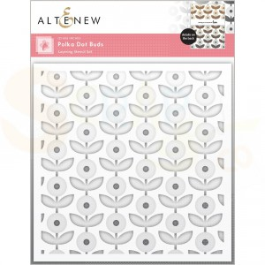 Altenew, Stencil Polka Dot Buds layering stencil (2 in 1) ALT6205