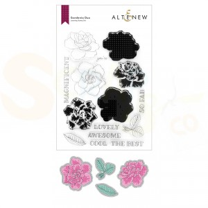 Altenew, stamp & die Gardenia Duo ALT6255