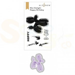 Altenew, stamp & die Happy Birthday ALT6303