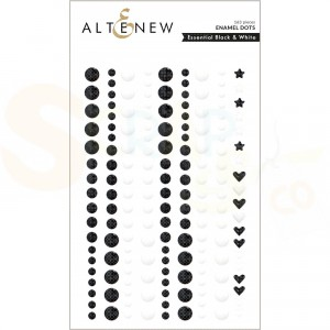 Altenew, enamal dots Black & White ALT6333