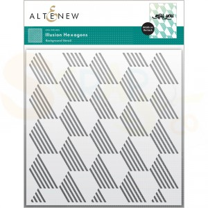 Altenew, Stencil Illusion Hexagons ALT6370