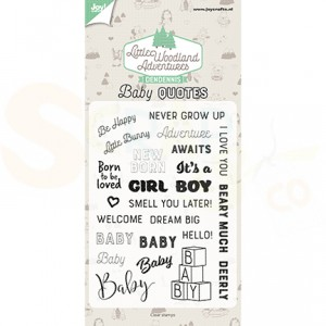 6410/0515, clearstamp DenDennis, Baby Quotes
