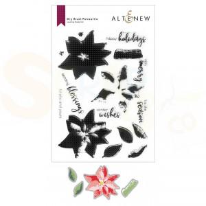 Altenew, stamp&die Dry Brush Poinsettia ALT6426