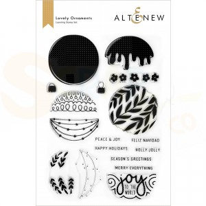 Altenew, clearstamp Lovely Ornaments ALT6508